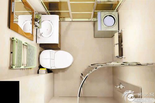 小面积卫生间装修效果高清图片