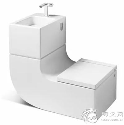 """""""w+w""""洗手池的水到马桶的水箱里再利用"""